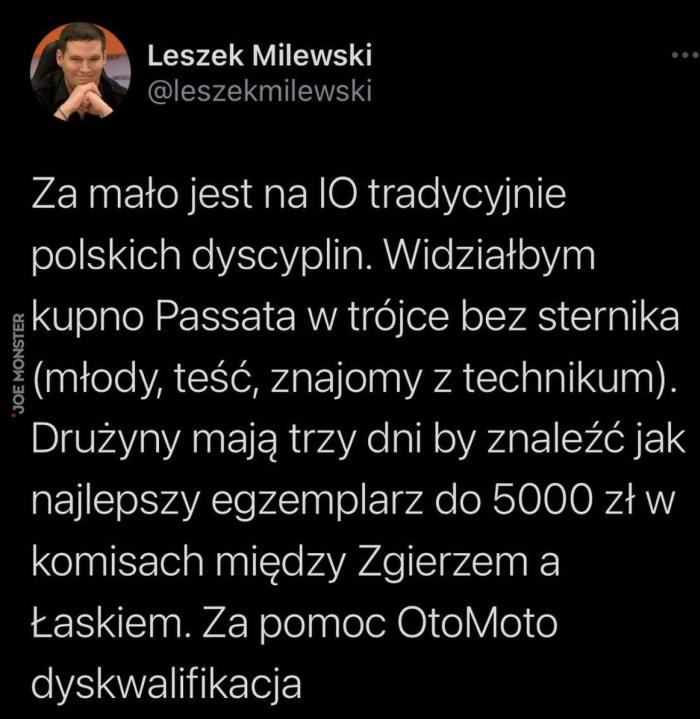 za mało jest na IO tradycyjnie polskich dyscyplin