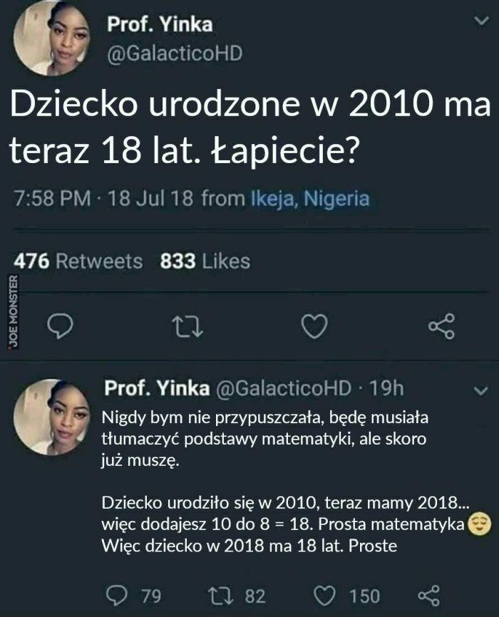 dziecko urodzone w 2010 ma teraz 18 lat
