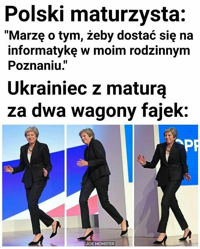 polski maturzysta marzę o tym żeby dostać się na informatykę