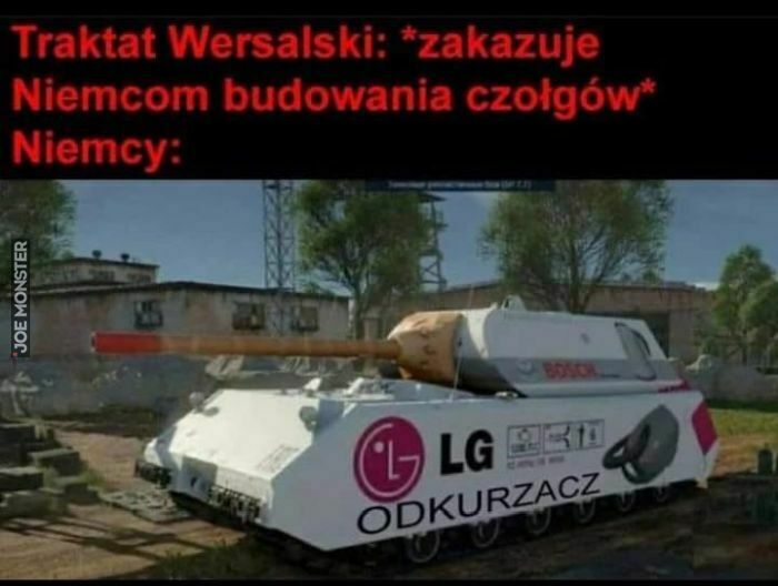 traktat wersalski zakazuje niemcom budowania czołgów