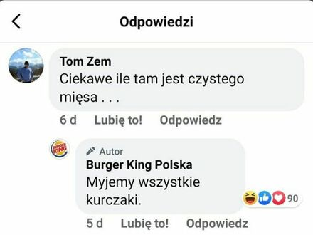 Czysto w Burger Kingu