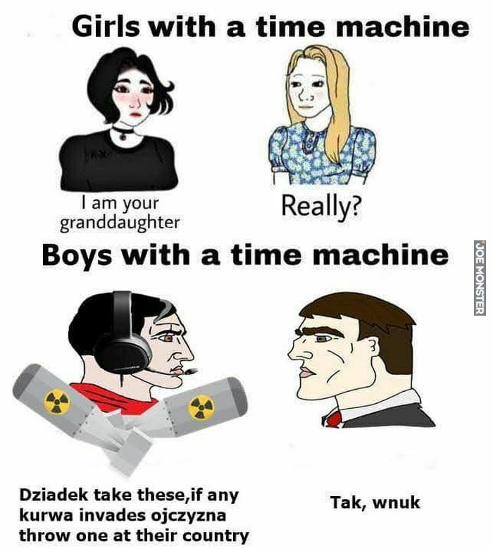 girls with a time machine