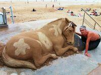 Koń z piasku