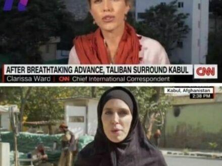 Dziennikarka CNN w Afganistanie przed przejęciem stolicy przez talibów i po