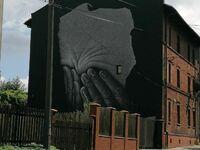 Mural Polska Płacząca autor Krzysztof Grzondziel