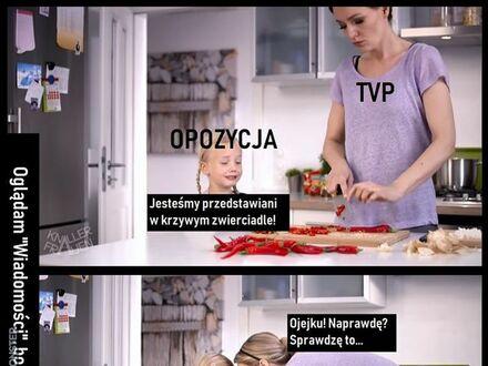 Kiedy opozycja narzeka na TVP