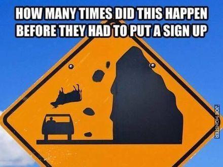 Ile razy to musiało się zdarzyć, aby postawili znak?