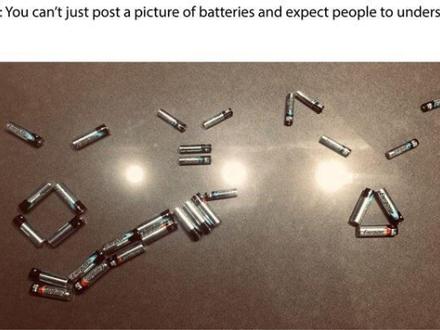 Nie możesz po prostu ułożyć obrazka z baterii i oczekiwać od ludzi że go zrozumieją