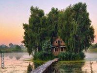 Opuszczony dom na bagnach