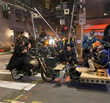 Keanu Reeves na planie Matrixa 4