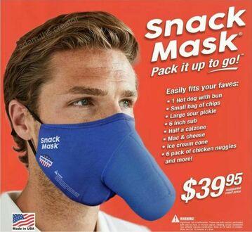 Maska na przekąski wygląda dość kontrowersyjnie