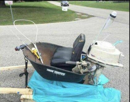 Miniaturowa łódka domowej roboty
