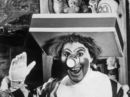 Oryginalny Ronald McDonald grany przez Willarda Scotta, 1963 rok