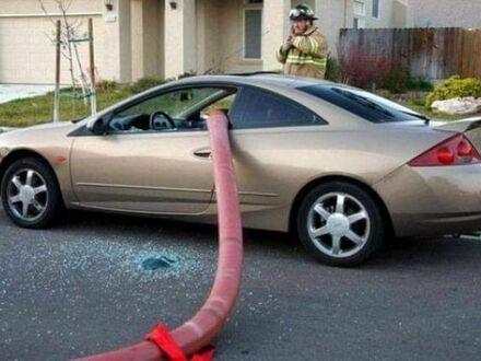 Trzeba było nie blokować hydrantu