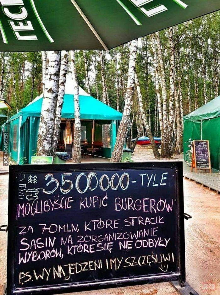 3500000 tyle moglibyście kupić burgerów