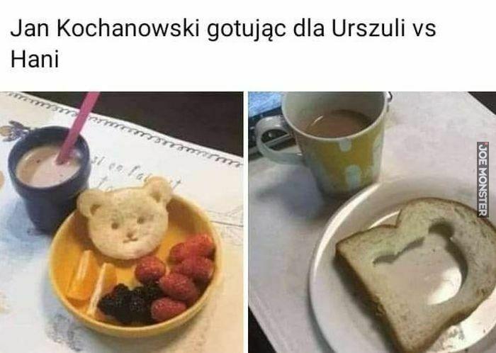 jan kochanowski gotując dla urszuli