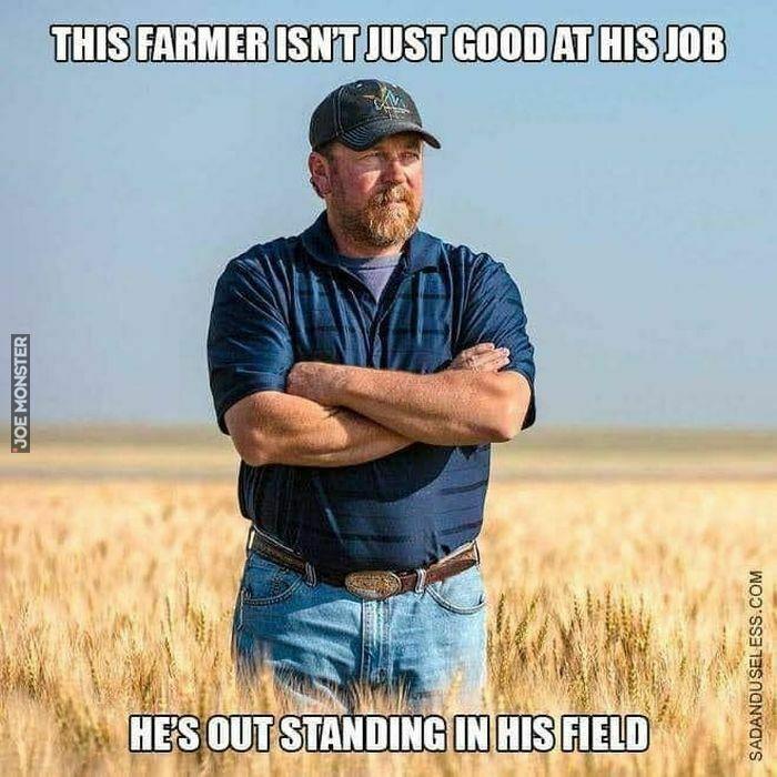 this farmer isn't just good at his job