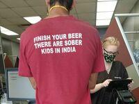 Dokończ swoje piwo, w Indiach są dzieci które są trzeźwe