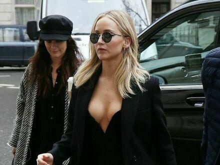 Jennifer Lawrence na premierze nowego filmu w Londynie