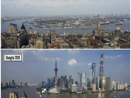 Jak zmienił się Szanghaj w przeciągu 30 lat