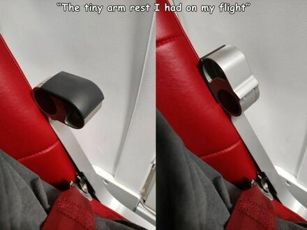 Podłokietnik w samolocie