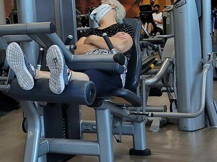 Zmęczyła się ćwiczeniami