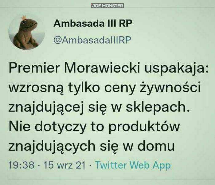 premier morawiecki uspakaja wzrosną