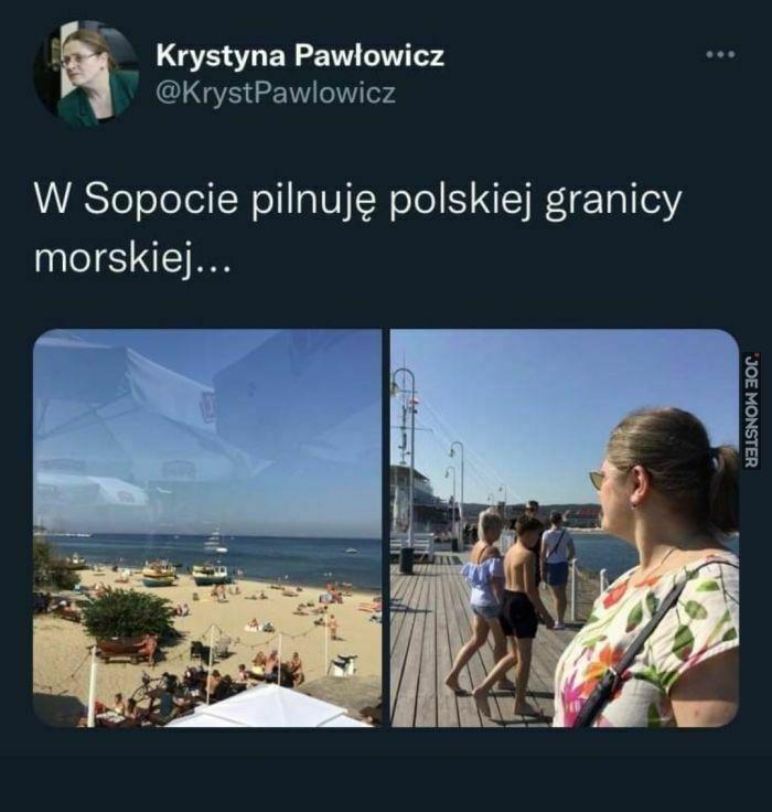 w sopocie pilnuję polskiej granicy