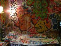 Ktoś tu bardzo lubi graffiti