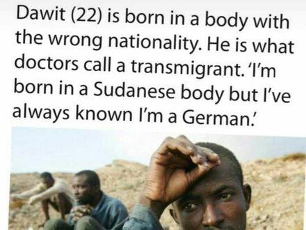 Dawit jest transmigrantem. To Niemiec w ciele Somalijczyka