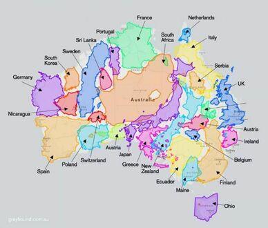 Jak naprawdę duża jest Australia