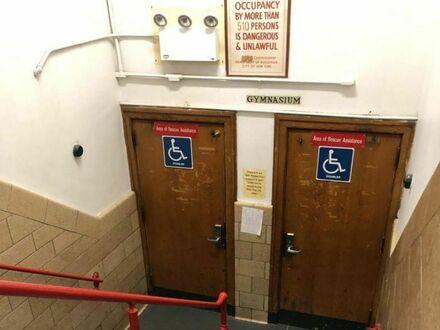 Toaleta nieprzyjazna inwalidom
