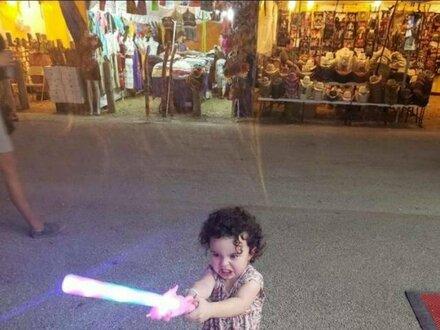Rośnie mała Jedi