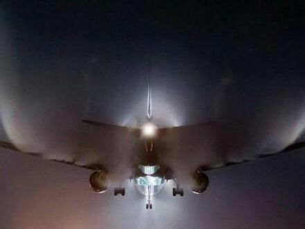 Widowiskowe lądowanie