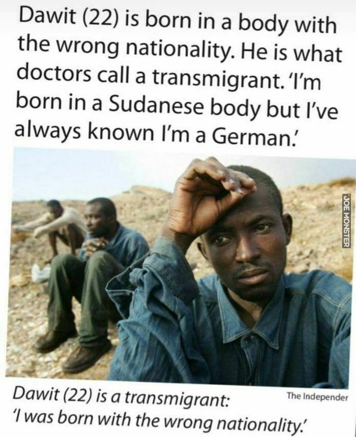 dawit is born in a body with the wrong nationality