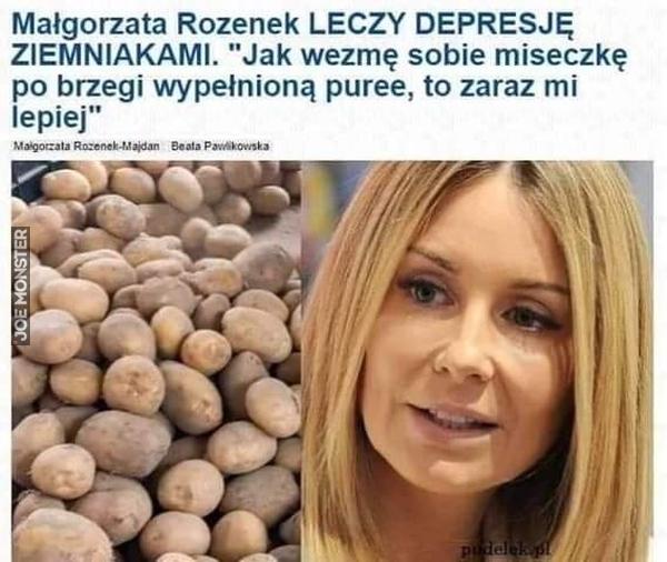 małgorzata rozenek leczy depresję ziemniakami