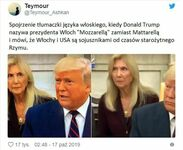 Reakcja tłumaczki na Mozarellę Trumpa