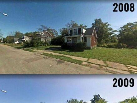 Transformacja ulicy w Detroit, 2008-2018