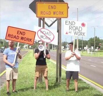 Nietypowy protest