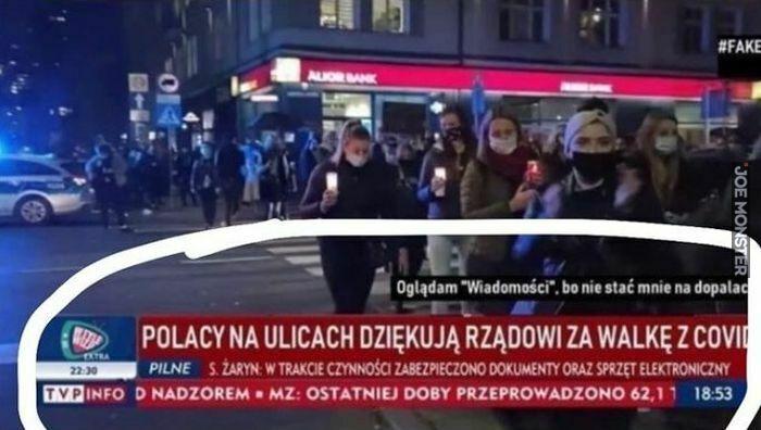 polacy na ulicach dziękują rządowi