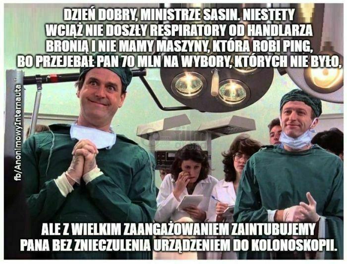 dzień dobry ministrze sasin niestety