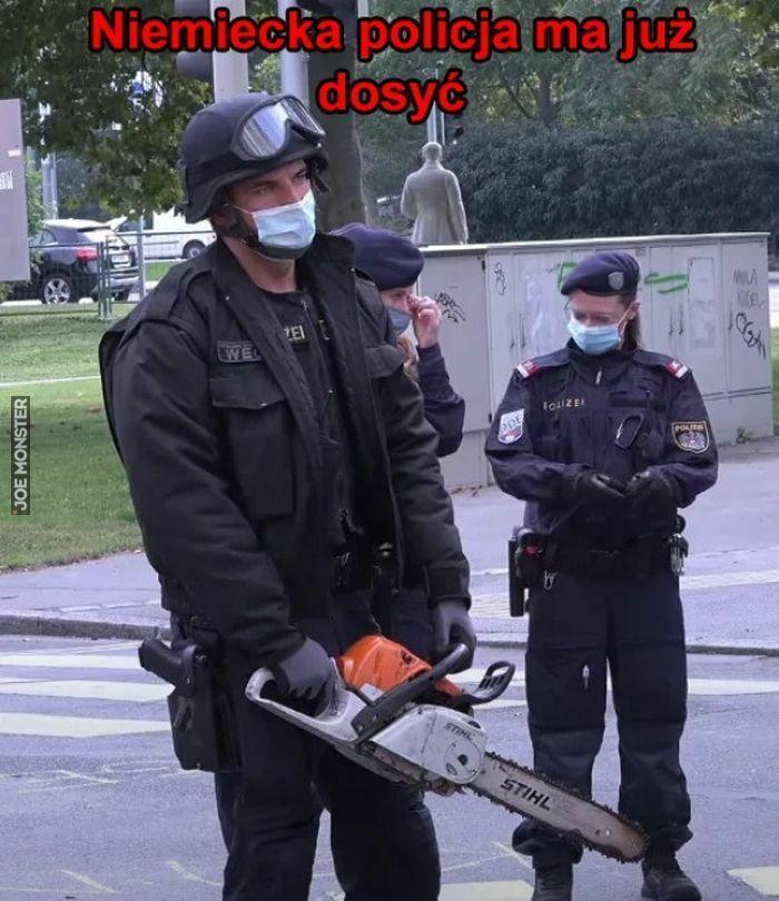 niemiecka policja ma już dosyć