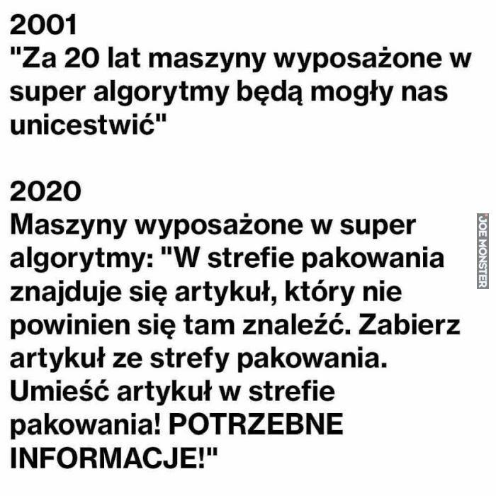 2001 za 20 lat maszyny wyposażone w super