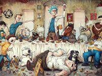Ostatnia wieczerza w kreskówkach
