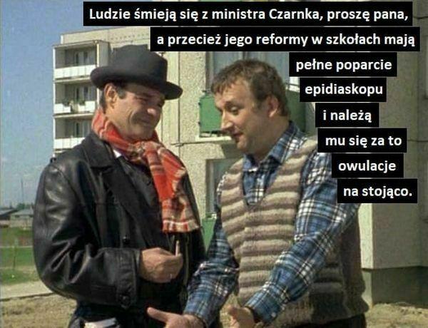 ludzie śmieją się z ministra Czarnka proszę pana