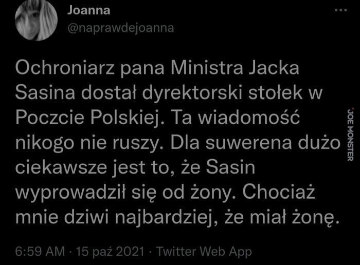 ochroniarz pana ministra jacka sasina