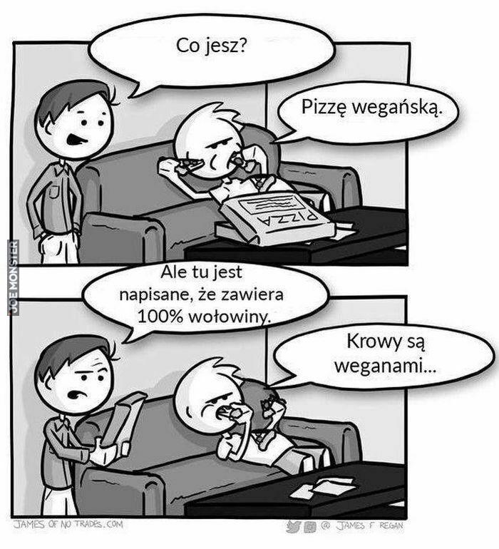 co jesz pizzę wegańską