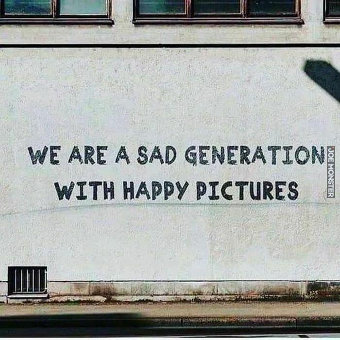 we are a sad generation