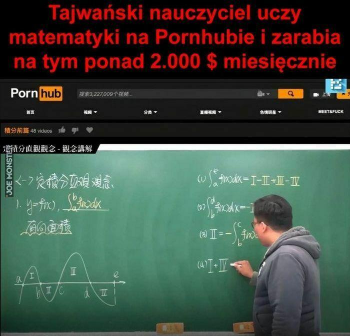 tajwański nauczyciel uczy matematyki na pornhubie
