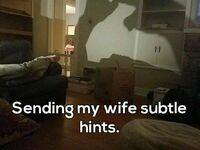 Wysyłam mojej żonie subtelne sygnały
